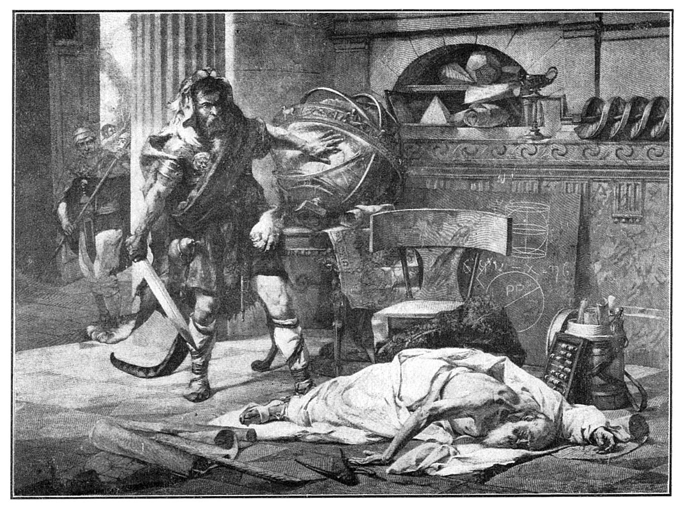 Death of archimedes illustrations for A archimede